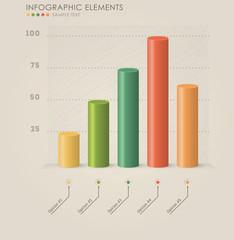 Vector 3d chart infographics