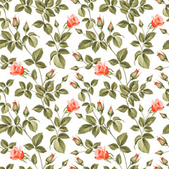 Roses pattern.