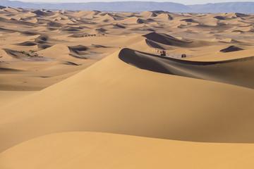 Erg Chigaga Caravan in Sahara Desert