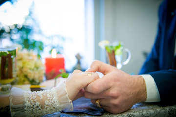 hands together couple