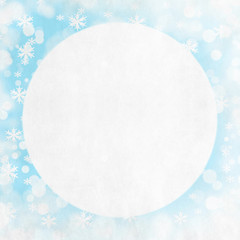 Christmas snowflakes background with space for text