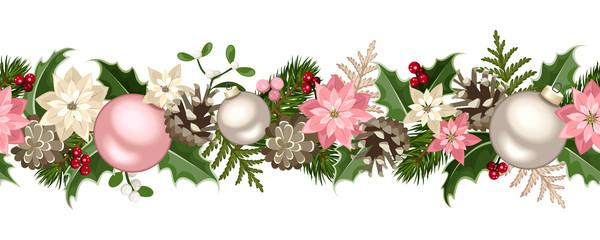 Christmas seamless garland. Vector illustration.