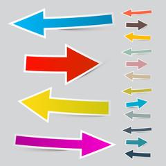 Paper Vector Arrows Set