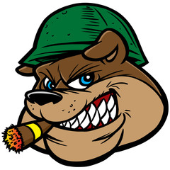 Bulldog Army Mascot