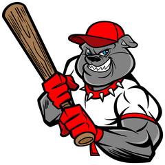 Bulldog Baseball Player