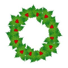 Greting card. Christmas wreath. Vector