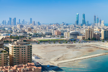 Bird view of Manama city, Bahrain, Middle East