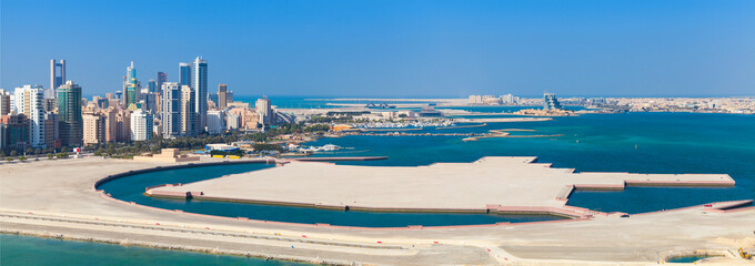 Poster Midden Oosten Bird view panorama of Manama city, Bahrain