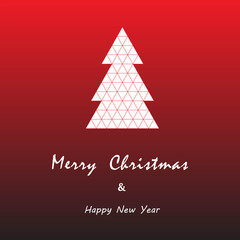 christmas and happy new year card vector background
