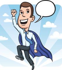 businessman flying like super hero