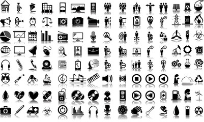Set of 120 vector icons of business, media and medical12