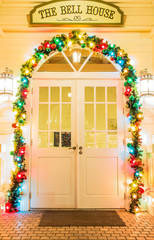 door in christmas day