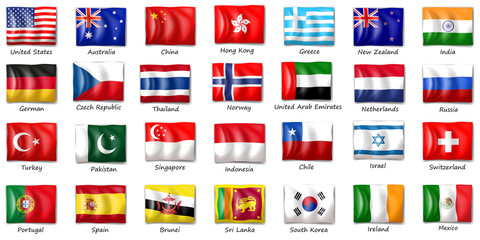 Internatinal flags