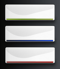 Set of white vector web buttons