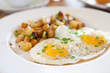 Tuinposter Gebakken Eieren Fried Eggs