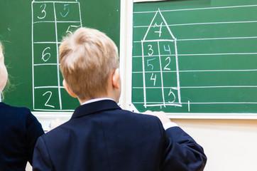 Math lesson at school