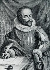 Miguel de Cervantes, Spanish novelist, poet, and playwright