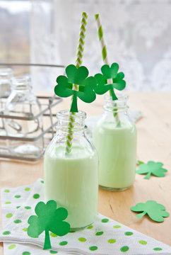 Gruener Milchshake zum St Patricks Day