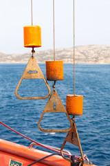 control knobs winch rescue boat