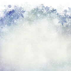 Snoflake background with room for copy space.