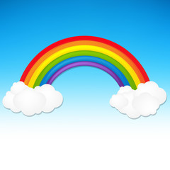Color Rainbow With Cloud