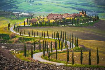Sunny fields in Tuscany, Italy Fototapete