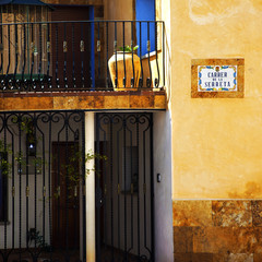 Spanish sun on Spanish walls.