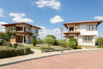 Suburban houses. Perfect neighborhood