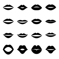 Set of lips, vector illustration