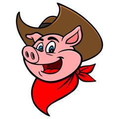 Cowboy BBQ Pig