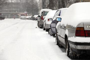 Fototapeta Autos im Winter