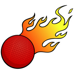 Dodgeball with Flames