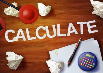 calculate desktop memo calculator office think organize