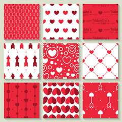 Valentine's day seamless pattern collection