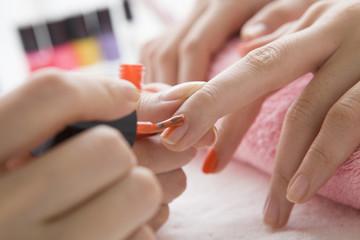 person whose job is manicurist