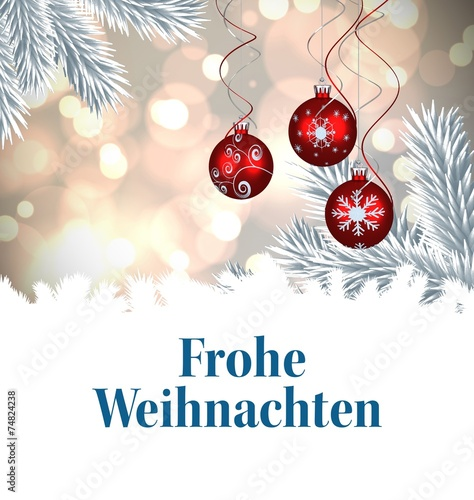 Composite image of christmas greeting in german stock photo and composite image of christmas greeting in german m4hsunfo