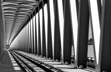 Photo sur Aluminium Pont Railway bridge