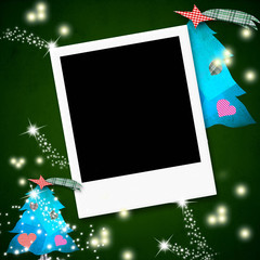 One instant photo frame Christamas card