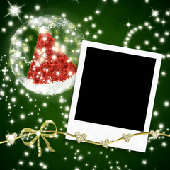 Christmas cards greeting photo frames