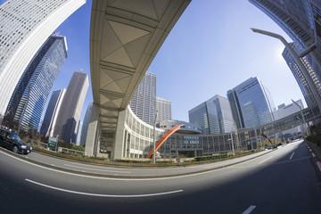[東京都市風景]東京都庁前から望む新宿高層ビル群 [超広角撮影]