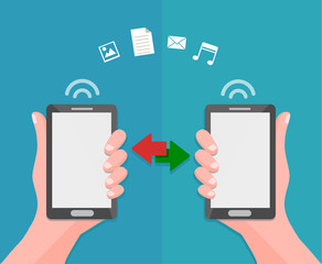 ata sharing and transfer concept between mobile phones