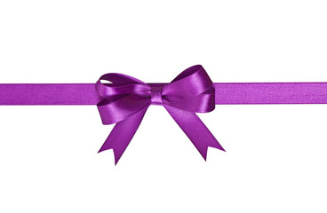 ribbon with bow isolated on white background