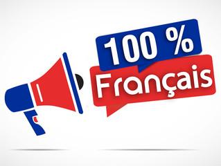 mégaphone : 100% français