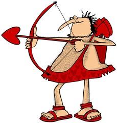 Cupid aiming an arrow