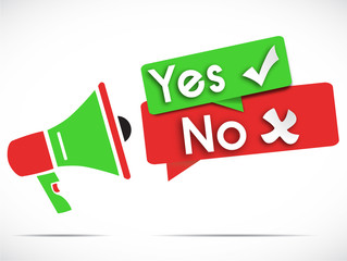 megaphone : yes no