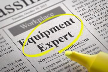 Equipment Expert Jobs in Newspaper.