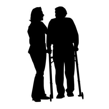 alter Mann mit Pflegerin