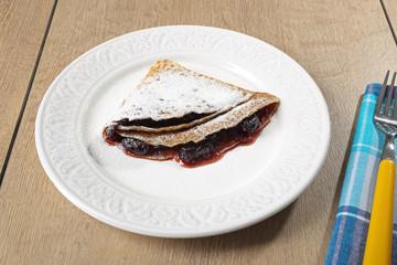 pancake con marmellata di ciliege