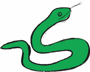 cartoon green snake