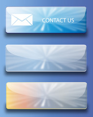 Web buttons contact us (Gloss Sky collection)